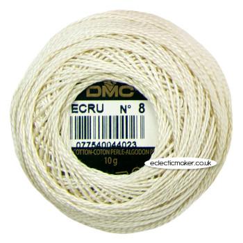 DMC Perle Cotton Thread Ball No.8 - Ecru