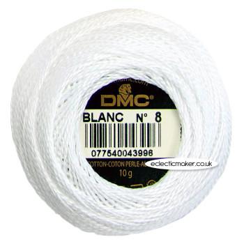 DMC Perle Cotton Thread Ball No.8 - White