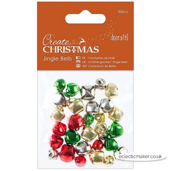 Docrafts Jingle Bells Assorted Sizes - 30 pcs