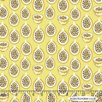 FIGO Fabrics - Forage - Forest Fruits on Pale Yellow