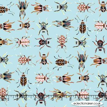 FIGO Fabrics - Forage - Garden Friends on Glacier