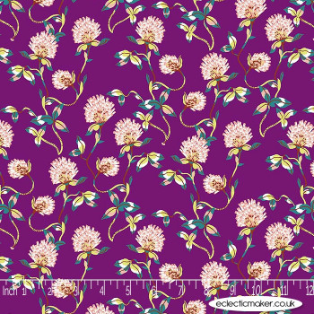 FIGO Fabrics - Forage - Tranquil Flowers on Plum