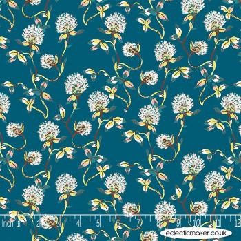 FIGO Fabrics - Forage - Tranquil Flowers on Spearmint