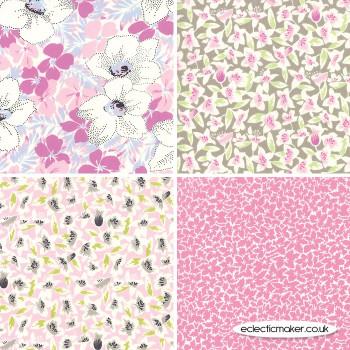 Moda Fabrics - Fine and Sunny - Fabric Bundle in Pink