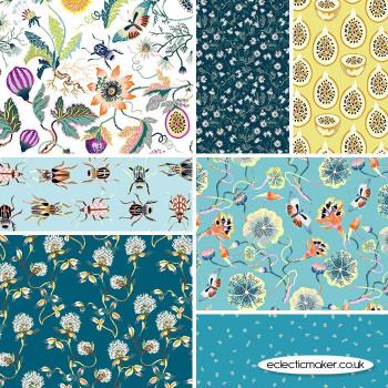 FIGO Fabrics - Forage - Fabric Bundle in Aqua
