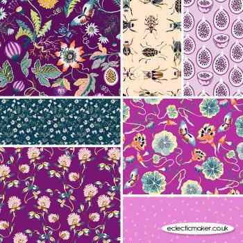 FIGO Fabrics - Forage - Fabric Bundle in Plum