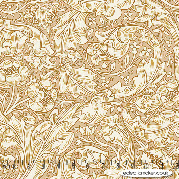 FreeSpirit Fabrics - Kelmscott - Bachelors Button in Tan