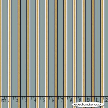FreeSpirit Fabrics - Kelmscott - Gilt Stripe in Blue
