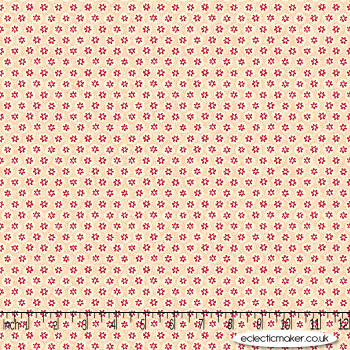 FreeSpirit Fabrics - Kelmscott - Honeycombe in Red