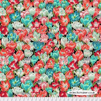 FreeSpirit Fabrics - Neddys Meadow - Crocuses in Mint