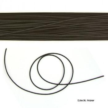 Hat Elastic Round in Black - 1mm