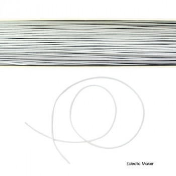 Hat Elastic Round in White - 1mm