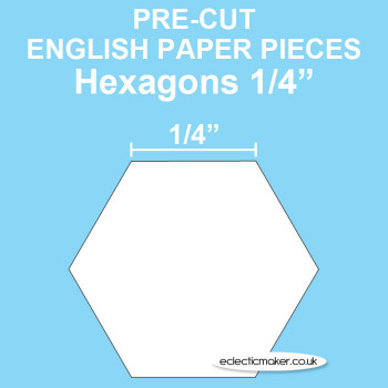 Hexagon Paper Pieces - English Paper Piecing - 1/4 inch
