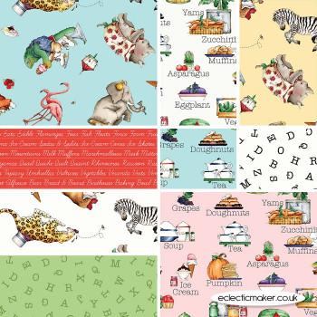 Riley Blake Fabrics - Hungry Animal Alphabet - Fabric Bundle in Multi