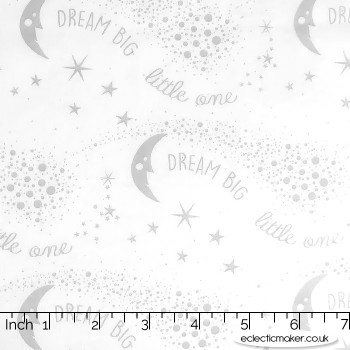 Kingfisher Fabrics - The Kids are Alright - Dream Big in Gray