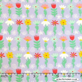 Kingfisher Fabrics - The Kids are Alright - Flowers on Multi
