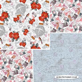 Michael Miller Fabrics - La Parisienne - Fabric Bundle in Red