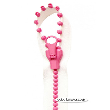 Lecien Jelly Beads Zipper White Pink