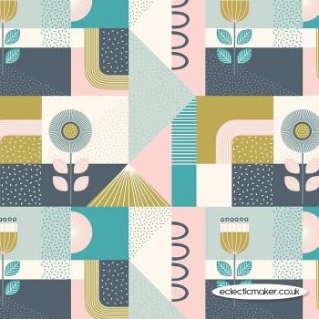 Lewis and Irene Fabrics - Forme - Pinks & Blues