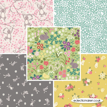 Lewis and Irene - Bunny Hop - Fabric Bundle in Spring Green
