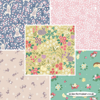 Lewis and Irene - Bunny Hop - Fabric Bundle in Spring Yellow