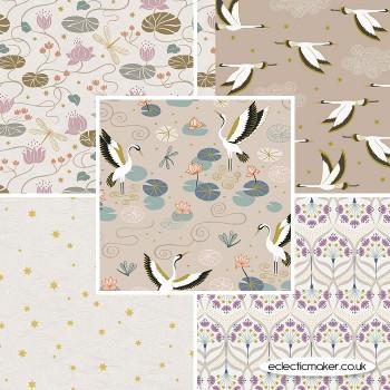 Lewis and Irene - Jardin de Lis - Fabric Bundle in Natural