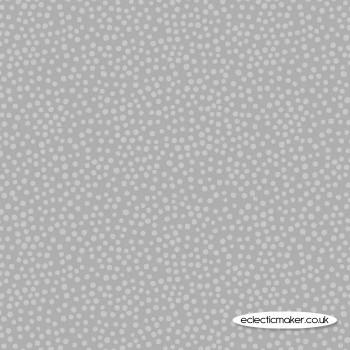 Lewis and Irene Fabrics - Marvellous Metallics - Silver Spot on Silver
