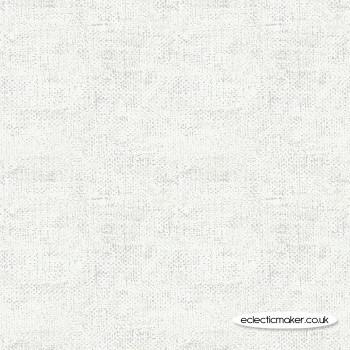 Lewis and Irene Fabrics - Marvellous Metallics - Silver Texture on Cream
