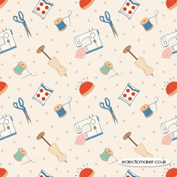 Lewis and Irene Fabrics - Small Things Crafts - Dressmaking on Cream