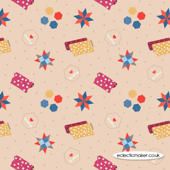 Lewis and Irene Fabrics - Small Things Crafts - Quilting on Natural