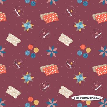 Lewis and Irene Fabrics - Small Things Crafts - Quilting on Wine