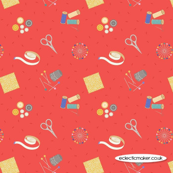 Lewis and Irene Fabrics - Small Things Crafts - Sewing on Red