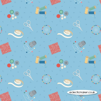 Lewis and Irene Fabrics - Small Things Crafts - Sewing on Turquoise