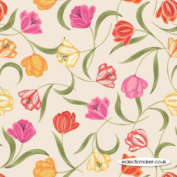 Lewis and Irene - Tulip Fields - Tulips on Cream