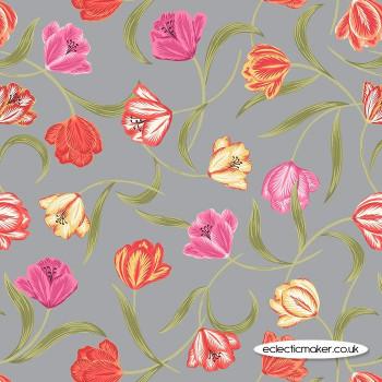 Lewis and Irene - Tulip Fields - Tulips on Grey