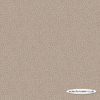 Lewis and Irene Fabric - Winter in Bluebell Wood - Winter Light Chestnut Dots