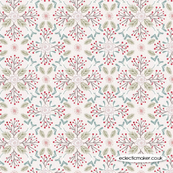 Lewis and Irene Fabric - Winter in Bluebell Wood - Winter Floral Light