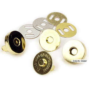 Magnetic Bag Clasp - Gold Coloured