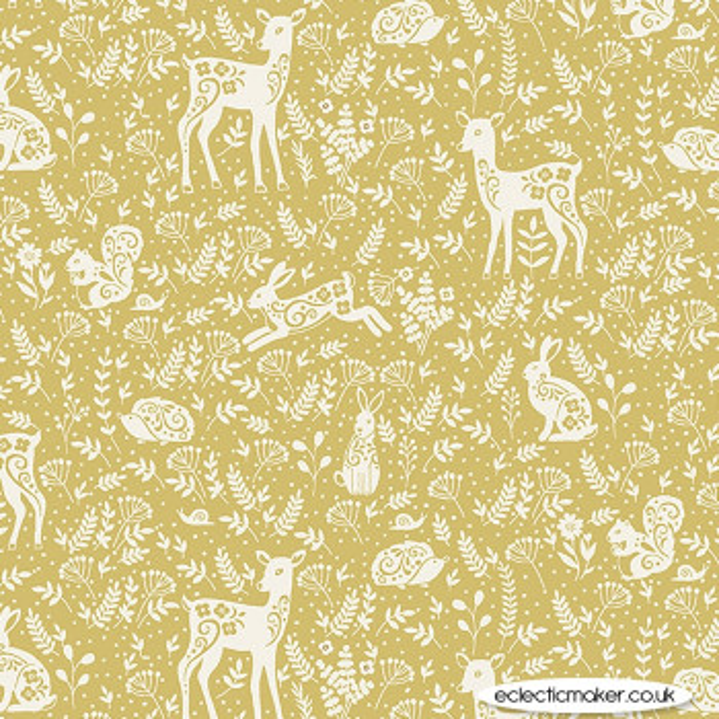 Makower Fabrics - Makower House Designs - Animals on Yellow