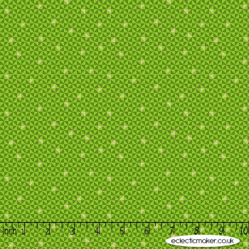 Makower Fabrics - Santa Express - Geo in Green