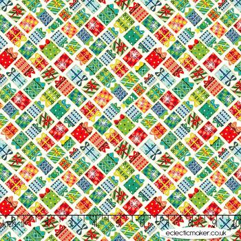 Makower Fabrics - Santa Express - Presents on Day