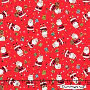 Makower Fabrics - Santa Express - Santa on Red