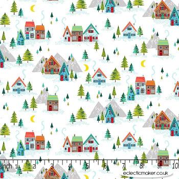Makower Fabrics - Santa Express - Scenic on White