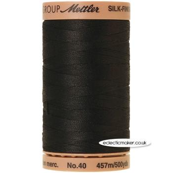 Silk-Finish Cotton 40 Thread - Black 4000 (Old No 003)