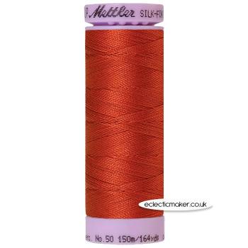Mettler Cotton Thread - Silk-Finish 50 - Brick 1074