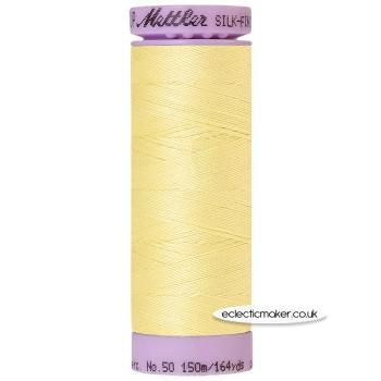 Mettler Cotton Thread - Silk-Finish 50 - Lemon Frost 1412