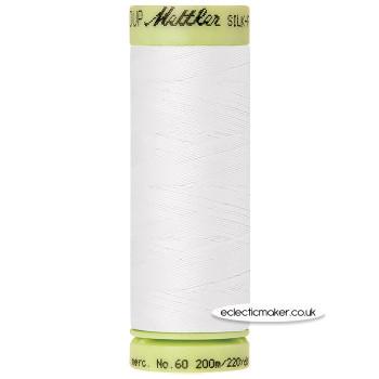 Mettler Cotton Thread - Silk-Finish 60 - White 2000