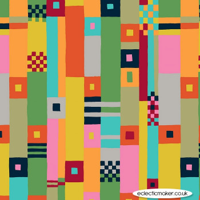 Michael Miller Fabrics - Atelier - Color Fields in Cherry