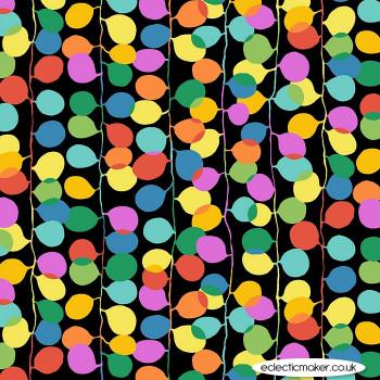 Michael Miller Fabrics - Atelier - Party Lights in Cherry