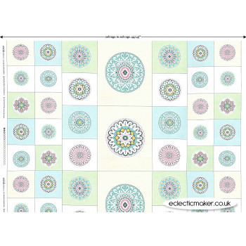 Michael Miller - Butterfly Row - Circle Patch Panel in Confection